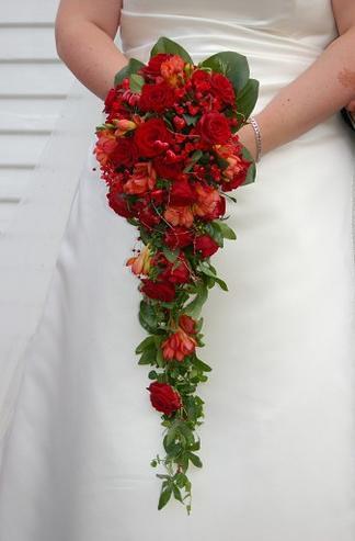 cascade wedding bouquet 8
