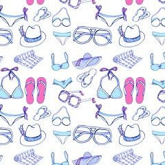 Beachwear patter (Rebekah Leigh) Tags: summerfashion patterndesign summerpattern