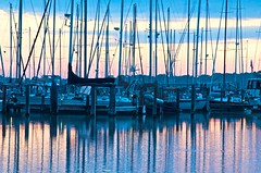 Sunrise in the marina (IRainyDays) Tags: marina sunrise sailboats masts galesvillemd hartgeyachtharbor