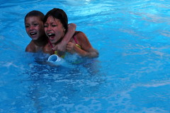 Siblings (trinity091319) Tags: friends summer water pool swimming fun slide floats