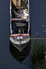 Straight and Narrow (CharlieCharlcomb) Tags: fromabove darkwater narrowboat hanham withreedstooneside