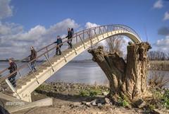 Escher meets Abbey Road (stevefge) Tags: people nijmegen bridges nederlandvandaag