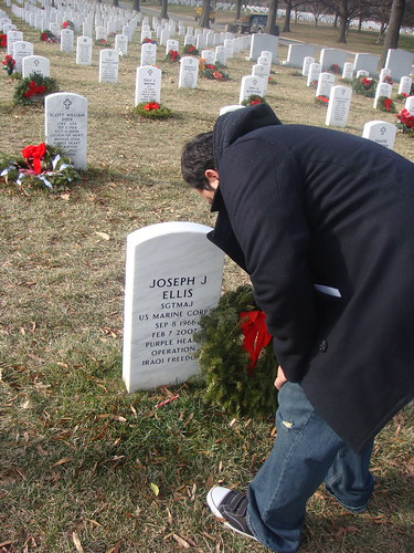 Juan at his Sargent Majors Grave
