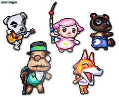 Animal Crossing Bead Sprites (Doctor Octoroc) Tags: animal crossing nintendo sprite bead hama perler beadsprites