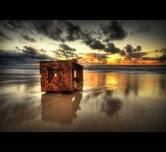 MINDARI SUNSET - BARNACLE BOX (Wiffsmiff23) Tags: sunset red yellow clouds reflections shine box smooth australia burning perth westernaustralia barnacle vob mindari overtheexcellence