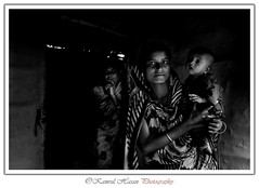 People of Sunamgonj, Sylhet (Kamrul - Hasan) Tags: life portrait people bw white black rural hope child lifestyle housewives housewife sylhet bangladesh haor tanguar