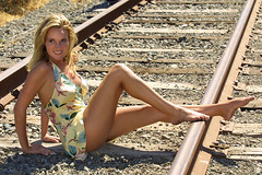 Bridget on the tracks (!STORAX) Tags: fashion model bridget