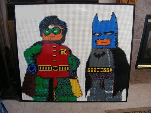 Lego Batman and Robin Mosaic