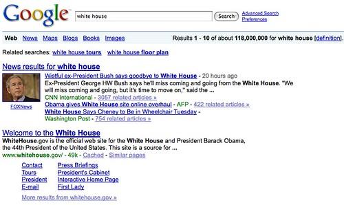 Google, White House