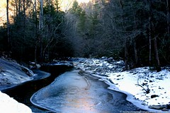 WINTER COMES TO THE COVE (Paul Mashburn's Captures) Tags: snow stream tennessee smokymountains cadescove greatsmokymountainsnationalpark iceandwater cadescovelooproad mushyscaptures paulmashburn