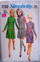 Vintage Simplicity 7752 Mod Dropped Waist Dress or Jumper Size 12 Bust 34 Waist 25.5 Hip 36 (Sassy By Design) Tags: she girls vintage clothing mod women 60s flickr pattern dress sewing international cast jumper etsy pleated misses size12 sewingpatterns droppedwaist bust34 sassybydesign hip36 waist265