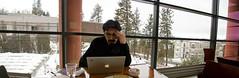 At the MAC (Jibby!) Tags: winter panorama snow window computer macintosh washington mac spokane addition brownes museumofartculture