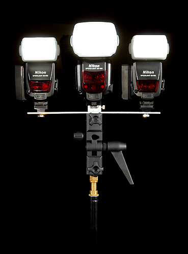 Custom Strobe Bracket - 3 Strobes (1 SB900 and 2 SB800's