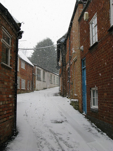 fleece yard in the snow