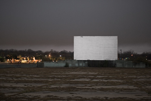 Sunrise Matinee at the abandoned Mission 4 Drive-In (San Antonio, TX) by Justin Parr