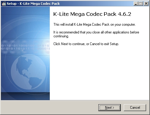 Instalando K-lite Mega Codec Pack - Tela 1