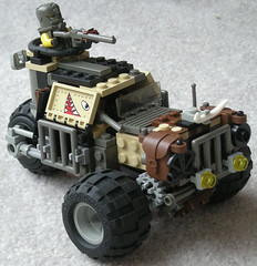 """Bull"" Three-Wheeled Heavy Combat Car Mk. IV (modified) (aillery) Tags: car lego apocalypse bull combat riders apocalego"
