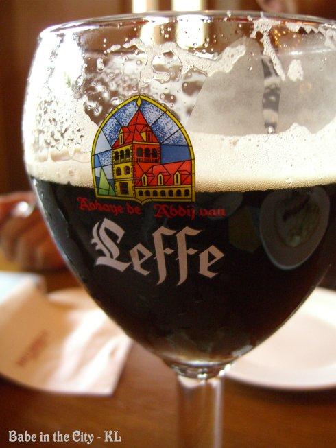 Leffe Brune Draught (1 pint RM26.00)