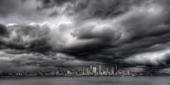 Winter Storm Warning (Jeff Engelhardt) Tags: seattle sky cloud storm skyline clouds canon skyscape cityscape hey gray storms drama photomatix tonemap 40d jeffengel maytheiphoneriseupandsmitethee nosmitingallowed