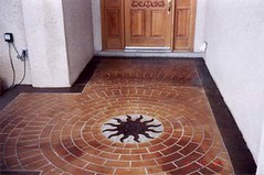 Decorative Concrete Engraving