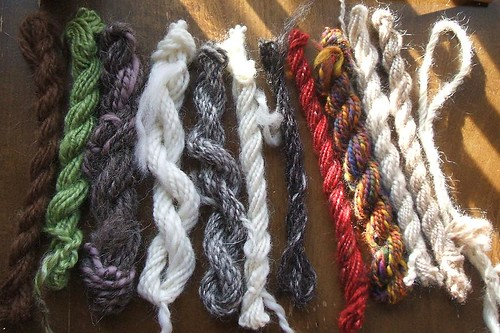 Plied fibre samples