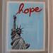 "Jef Aérosol 2009 - new silkscreen print : ""hope"""