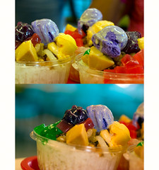 Halo-halo diptych - TGIF, you all (imago2007 (BUSY)) Tags: 50mm virginia v friday tgif flickrfriends virgie halohalo jolibee merlysunflower born19june zeetzjones 40dcanon imago2007 6simplerules filipinodessertcanon f14niftyfifty