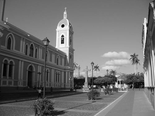 The beautiful cathedral in Granada, Nicaragua.
