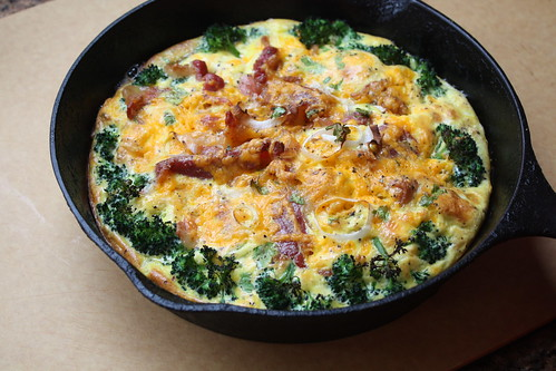 Broccoli Bacon Cheddar Frittata