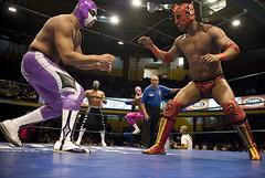 El hijo del Fantasma vs. Dragn Rojo (RubioBuitrago) Tags: mexico df wrestling arena wrestlers tigre lucha libre ringside luchadores luchas dragonrojo sicoactiva hijodelfantasma consejomundialdeluchalibre