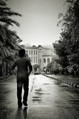 A walk to remember (AlAmmari) Tags: road street white black wet rain bahrain remember sad walk rainy manama   fotocompetitionbronze