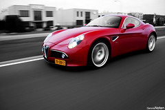 8C. (Denniske) Tags: auto red cars netherlands coffee car digital speed canon rouge photography eos march spring movement ar belgium action nederland belgi optical sigma 15 roadtrip os voiture cc coloring alfa romeo and mm 500 dennis panning limited edition rood rosso 18200 15th 2009 1500 supercar colouring selective bwcolor the noten 8c colorkey carspotting dreamcar stabilizer bwcolour stabilisation competizione rt 3563 f3563 hypercar 40d competitzione cartocar denniske dennisnoten 150309
