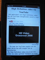 eBook op iPod Touch (foto door: PiAir (Old Skool))