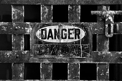 danger (Desolate Places) Tags: philadelphia sign warning state prison jail eastern pennslyvania penitentary