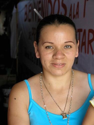 Portrait of a young woman - Retrato de una mujer joven; Jinotega, Nicaragua