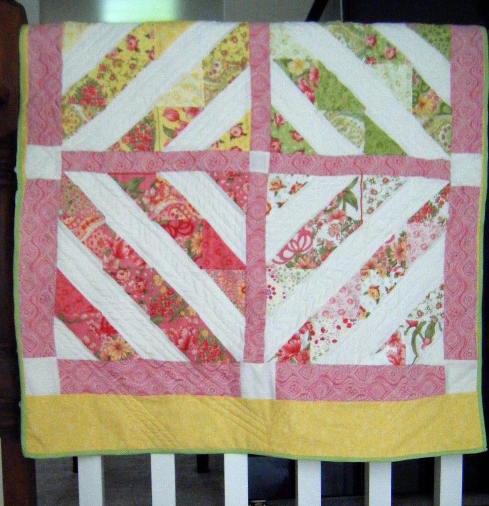 spring magic baby quilt