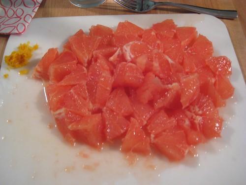 Grapefruit close-up
