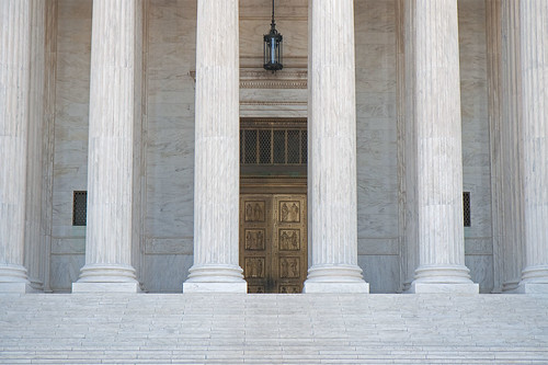 Entrance to the Supreme Court, Washington, DC