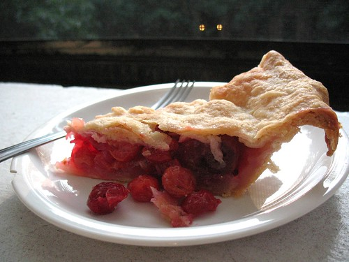 cherry pie, slice