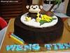 Monkey PCK (heartycakes) Tags: birthday cakes monkey banana fondant gumpaste phuachukang pck