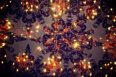 **** (Tiffany Zau) Tags: wallpaper lamp pattern overlay ceiling chandelier fauxdoubleexposure incameraediting