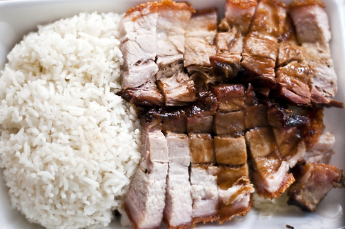 roast pig over rice @ hing won, midtown west
