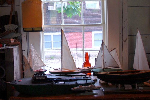 Wicasset Antique Shop: Model Sailboats