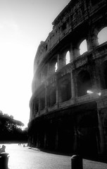 Colosseum (ROSS HONG KONG) Tags: morning light bw white black rome glare sony colosseum coliseum alpha diffuse a900 itsly