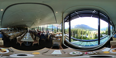 BTW, Breakfast in Banff with Bacon at Bridges is Boffo (dmswart) Tags: panorama breakfast bacon view bridges 360 projection banff equirectangular dmswart