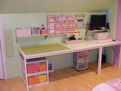 My Workspace (Vociferous) Tags: computer design bedroom mac sewing crafts decorating workspace organization