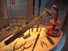 Sword and relics, Gamla Uppsala Museum (radiowood) Tags: museum vikings relics ironage gamlauppsala olduppsala