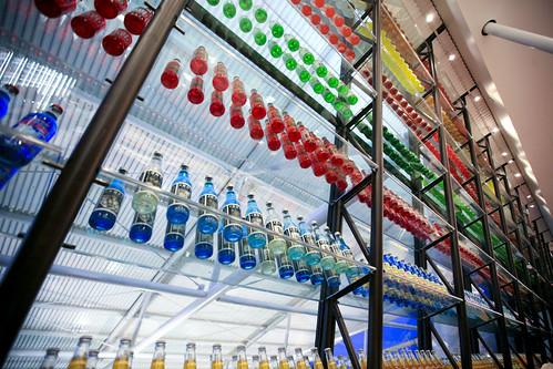 shelves of soda pop