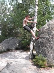 Fontainebleau 2009 (bvreugd) Tags: elephant boulder bouldering fontaine foret fontainebleau roche bleau culdechien franchardcuisiniere lestroispignon lesgrossablons