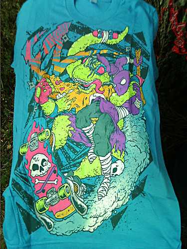 """Electric Zombie"" limited edition - Mondo Teal { Mondo Gecko }  Tee  // A  (( 2009 ))"